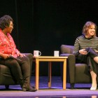 SNL's longest-serving female cast member Vanessa Bayer spoke candidly with Prof. Samantha Sheppard, performing and media arts, about her life, comedy career and Jewish background at Bailey Hall.