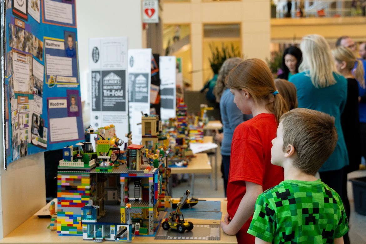 Elementary school students explored engineering and sustainability through Legos at the 14th annual FIRST Lego Exposition.
