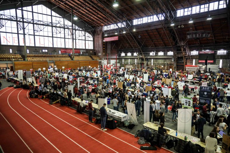 This Sunday, Barton Hall was filled with booths from clubs and organizations at ClubFest. (Michael Wenye Li/Sun Senior Photographer)