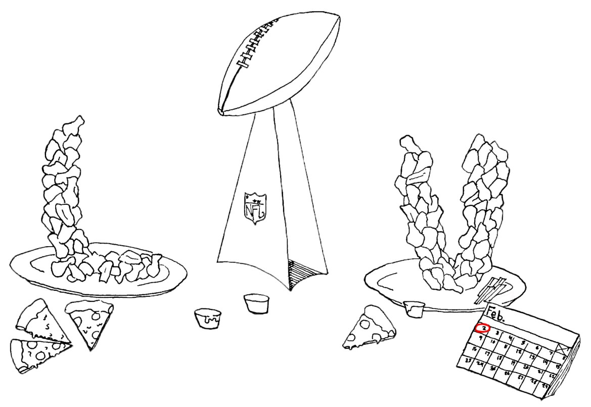 College town restaurants are stocked up on wings, pizza, and other sports fans' favorites for Super Bowl LIV.