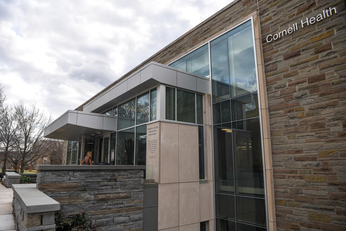 Healthcare teams at Cornell Health are only allowing pre-screened individuals to enter the building, as care moves online.