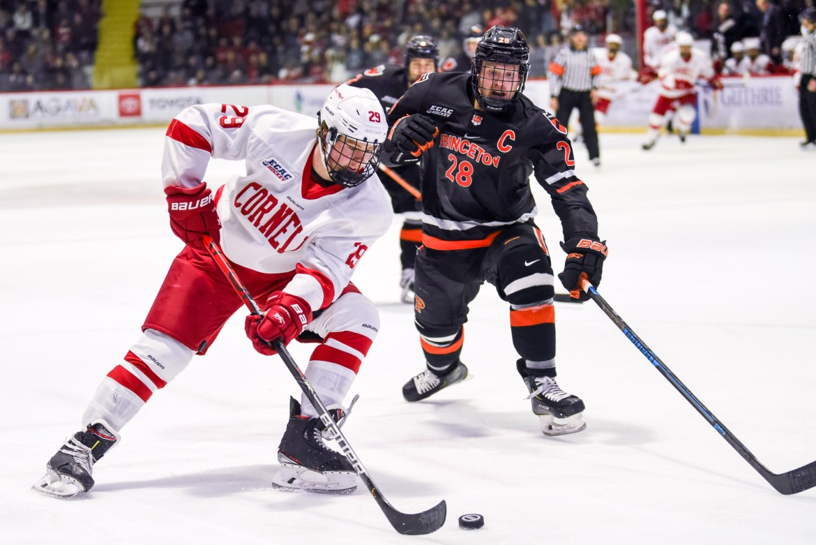 Cornell beat Princeton, 5-1, at Lynah Rink in November.
