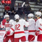 The Red advanced to the ECAC semifinal after a sweep of St. Lawrence.