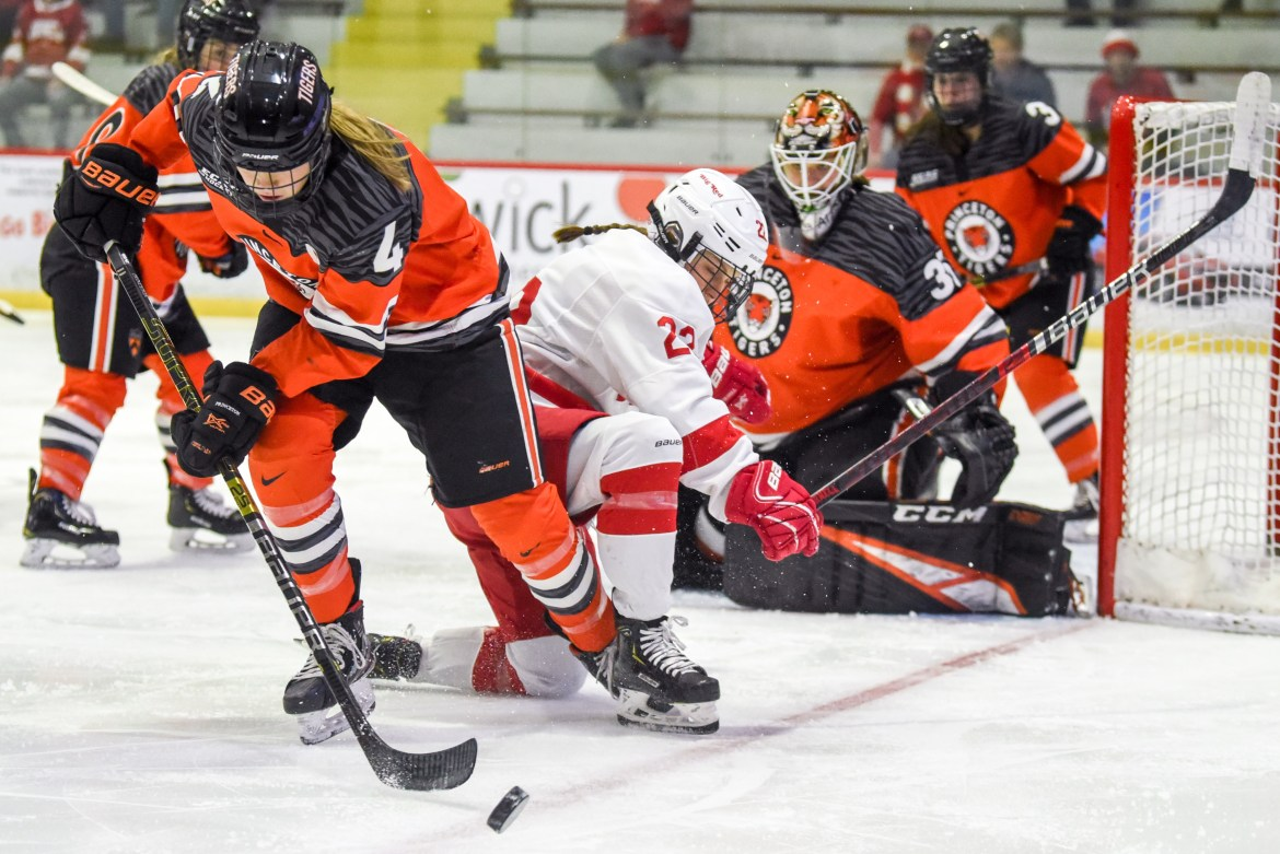 Princeton overcame a two-goal deficit to deny the Red an ECAC title.