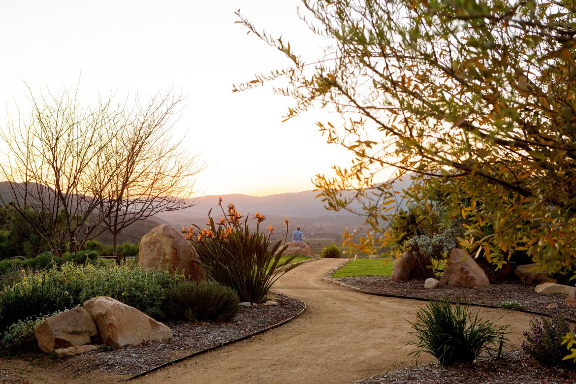 Meditation Mount, a tranquil spot that includes hiking paths, gardens and scenic mountaintop views, in the Ventura County town of Ojai, Calif., Feb. 25, 2020. (Beth Coller/The New York Times)