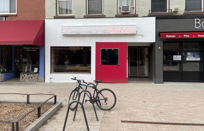 """Thompson and Bleecker in downtown Ithaca on Wednesday. """"The next two months are two of the busiest months in Ithaca. There's no way to sugarcoat it,"""" owner George Papachryssanthou said, later adding: """"It's gonna hurt."""""""