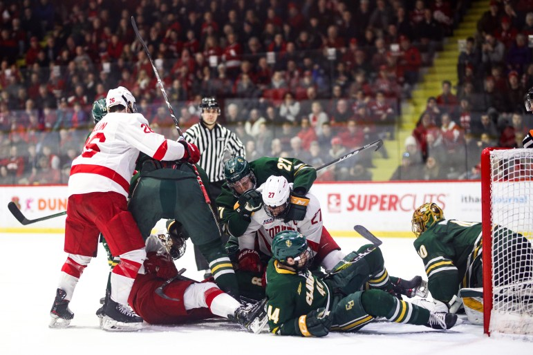 Cornell and Clarkson combined for 87 total penalty minutes in the physical game.