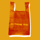 Plastic carryout bags are now banned from distribution in New York State.
