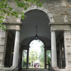 Balch Arch, which leads the way to many North Campus dorms, is a common place for freshmen to walk through to get to and from classes.