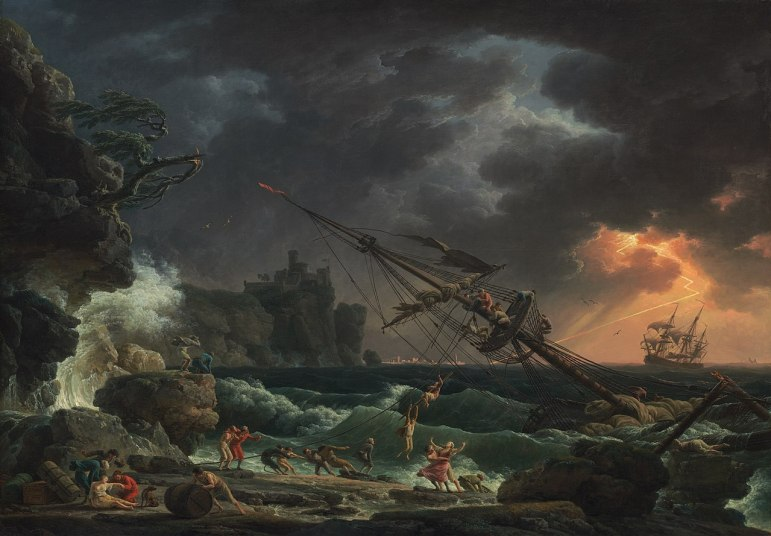 """The Shipwreck"" (1772) by Claude-Joseph Vernet"
