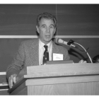 Bill Kay speaks at a Cornell real estate event in 1994.
