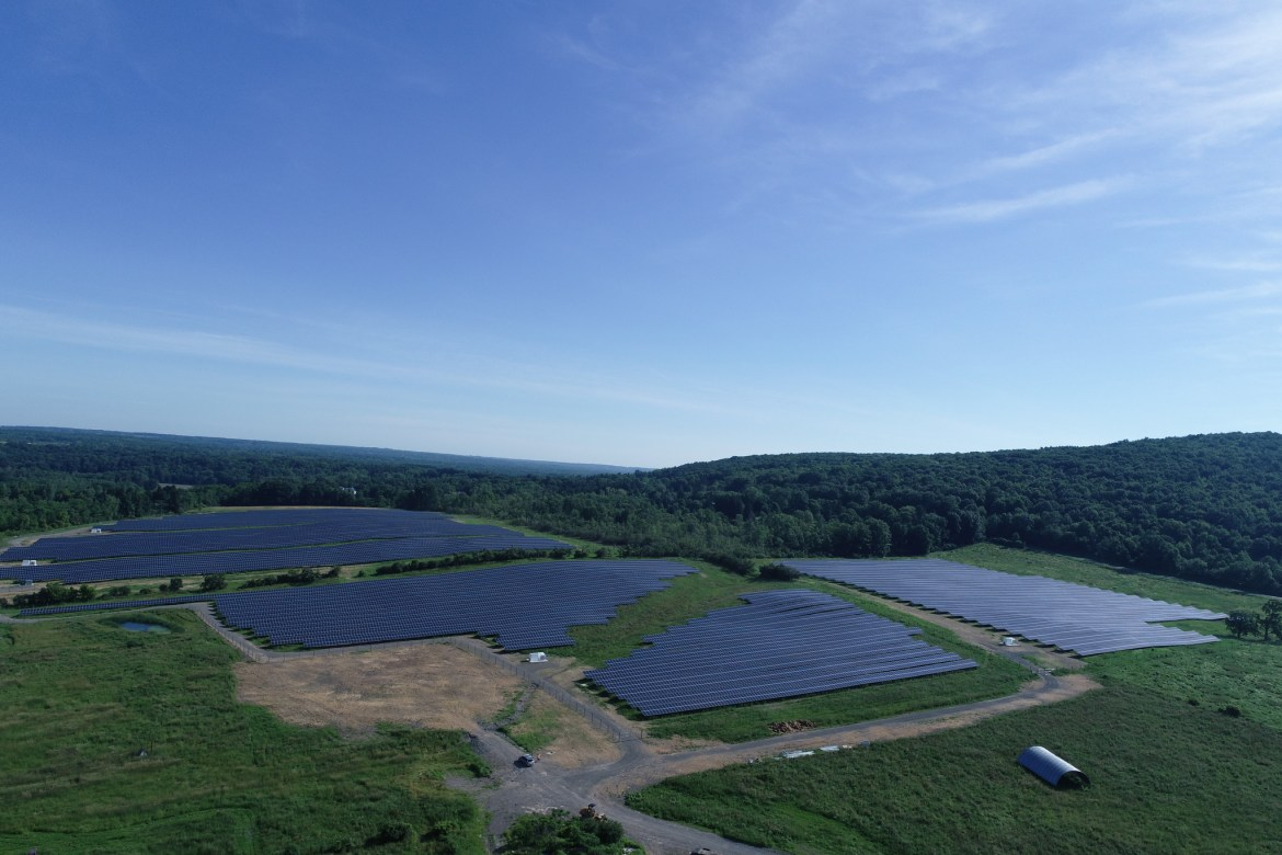 The new solar farm, located in Cascadilla, will greatly add to Cornell's capability to power its campus using renewable sources.