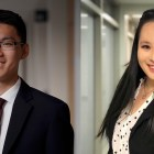Left: Andy Song '22; Right: Serina Lee '20