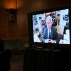 Dr. Anthony Fauci M.D. '66 testified at the senate hearing remotely, after entering self isolation following possible exposure to COVID-19.