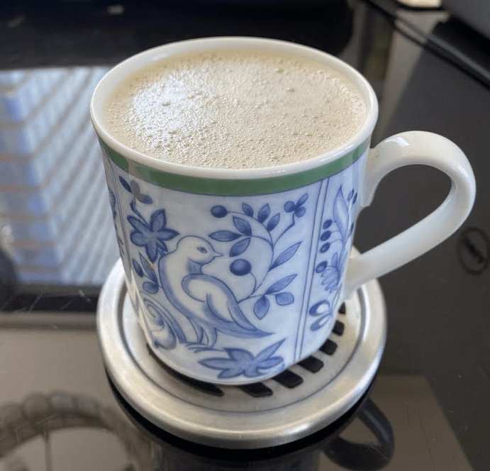 A café-au-lait made at home. (Sanjana Kaicker / Sun Staff Writer)