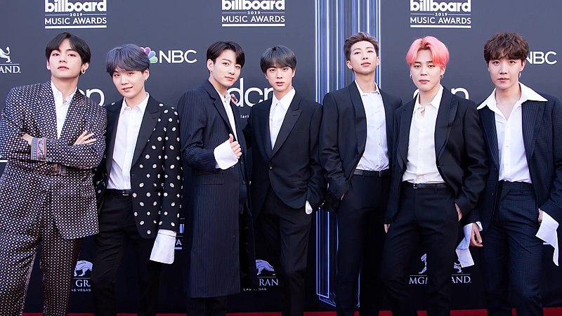 BTS on the Billboard Music Awards red carpet