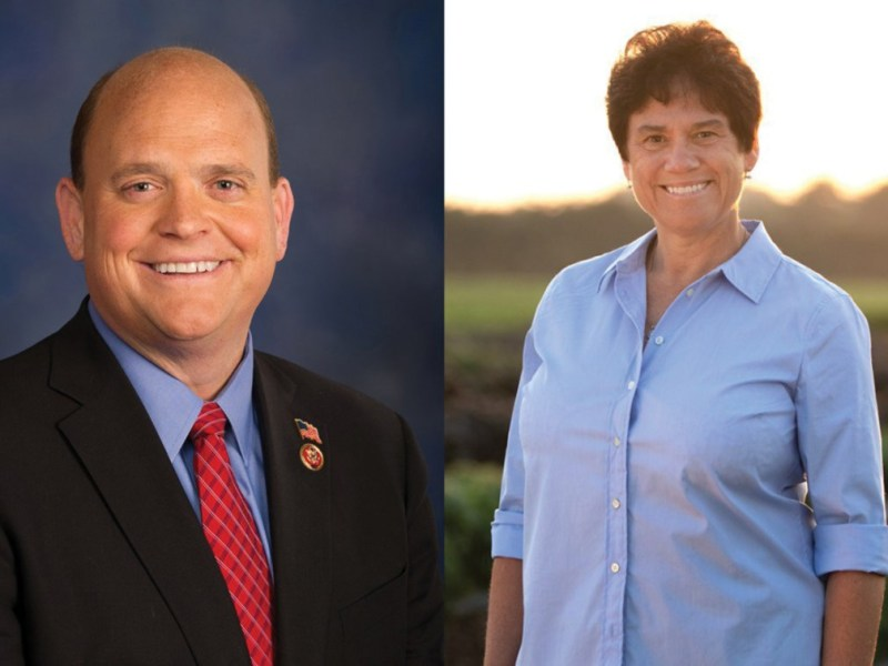 Left: Tom Reed (R-N.Y.), Right: Tracy Mitrano '95