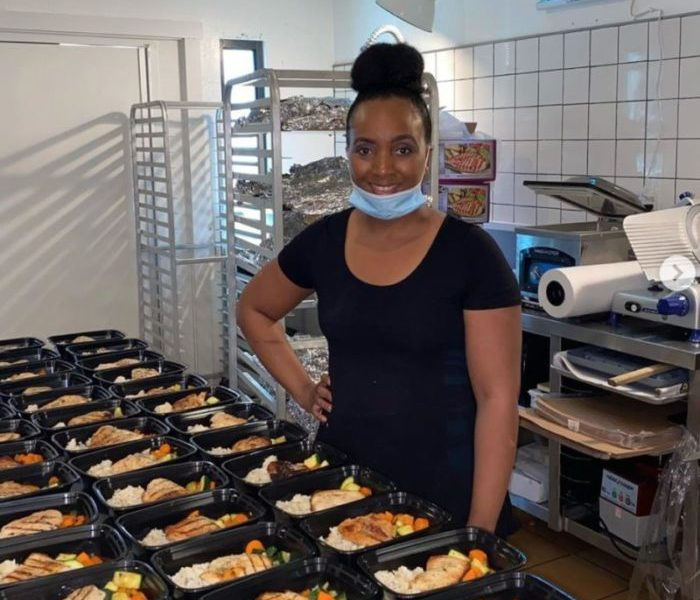 Dominique Clayton, owner and chef of In The Kitchen With Dominique, LLC (Amelia Clute/ Sun Staff Writer)