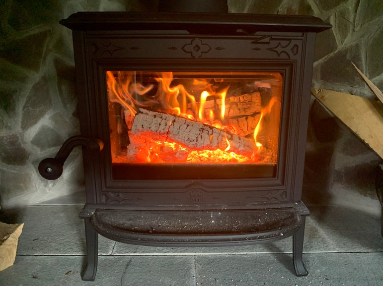 Using a wood fire stove to really builds patience while cooking breakfast, lunch and dinner. (Benjamin Velani / Sun Dining Editor)