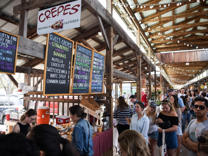 """This year, the farmer's market has limited capacity to avoid crowds like this one from 2019. However, students attending in larger groups have somewhat overwhelmed the venue, leading the organizers to ask attendees to """"leave the squad at home."""""""