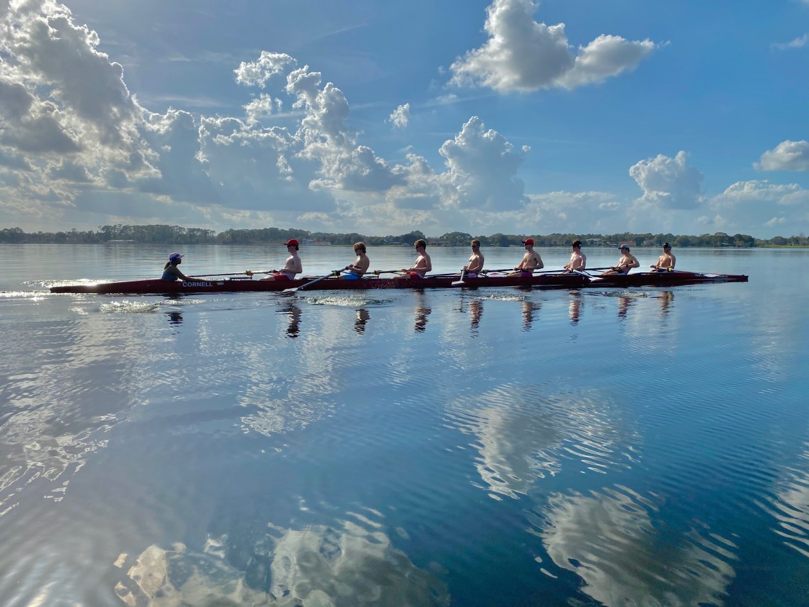While Teevyah Yuva Raju was previously involved in basketball and Brazilian Jiu-Jitsu, she had no prior experience in rowing before walking onto the team as a transfer.