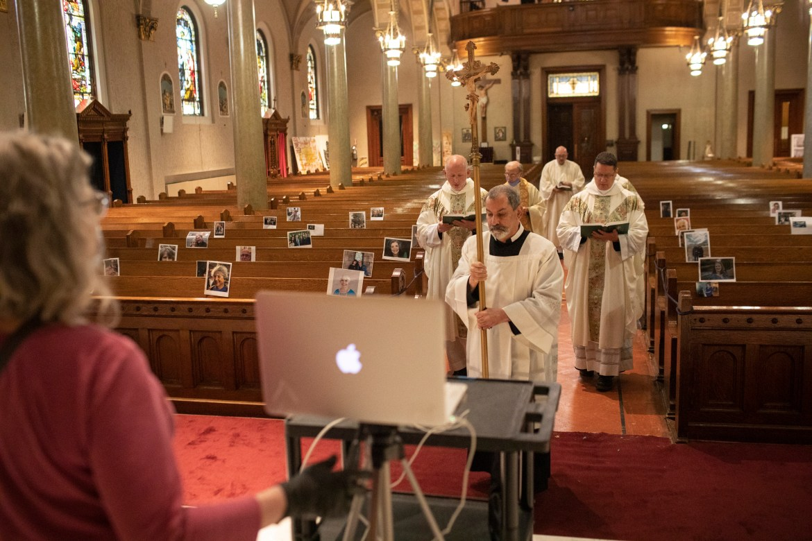 Worship services across the country are being conducted with congregants remotely.