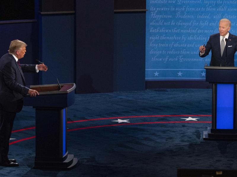 Cornellians tuned into Tuesday's tumultuous presidential debate.