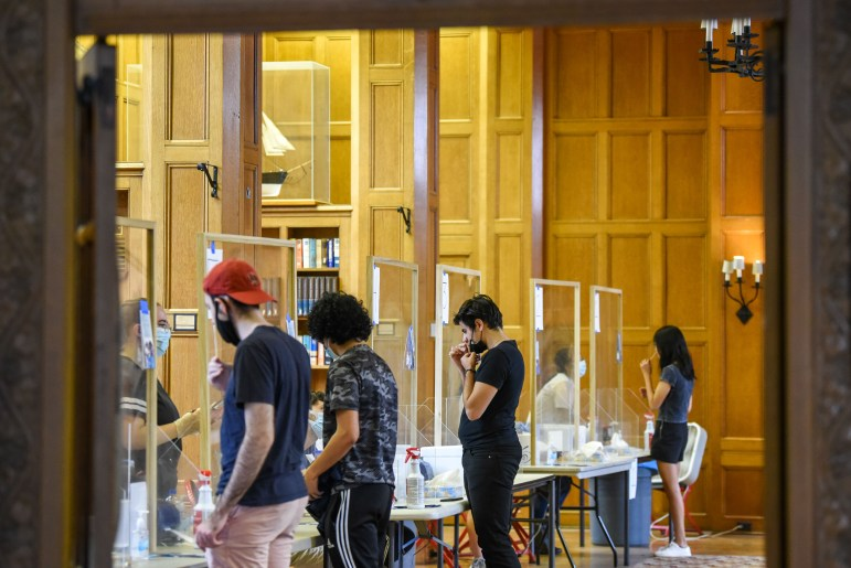 Testing all undergraduates twice a week has played a key role in Cornell's ability to limit the spread of the coronavirus.