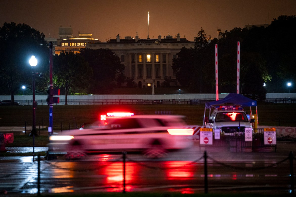 A view of the White House shortly after President Donald Trump Trump revealed early Friday morning, Oct. 2, 2020, that he and his wife, Melania Trump, had tested positive for coronavirus.