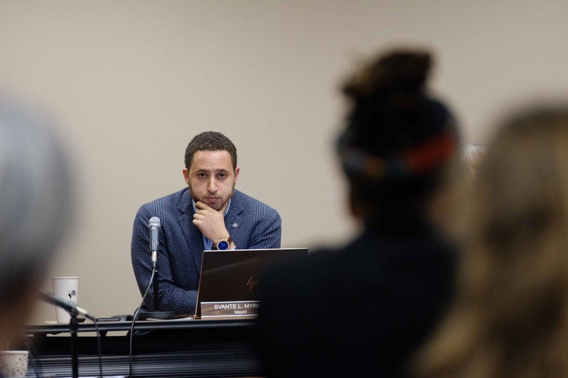 Mayor Svante Myrick's '09 budget was proposed at Thursday's Common Council meeting.