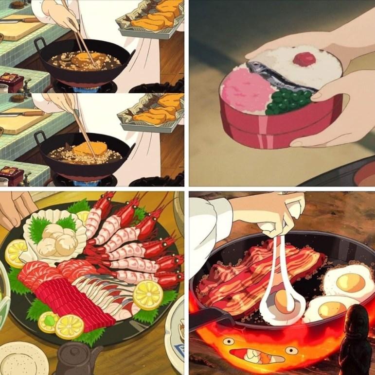 Stills from Studio Ghibli films