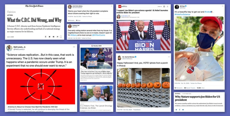 A slew of Cornell professors, alumni and scientists have taken to social media to post about the election and encouraging others to vote — which is a relatively new phenomenon according to Prof. Bruce Lewenstein, science and technology studies.