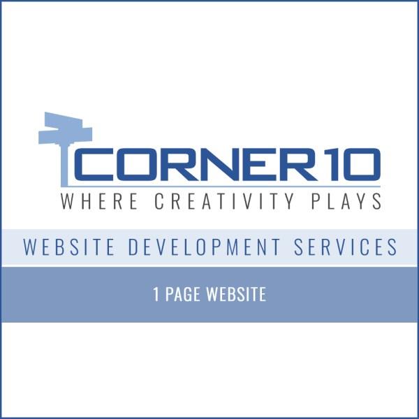 Corner 10 Creative Website Development 1 page