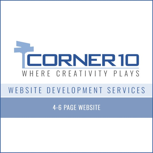 Corner 10 Creative Website Development 4-6 pages