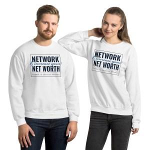 'Network' Corner 10 Creative White Sweatshirt