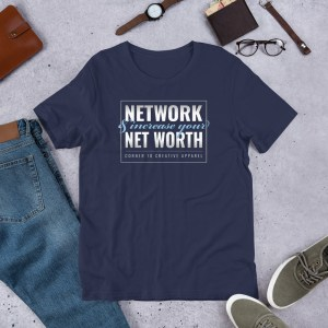'Network' Corner 10 Creative Short-Sleeve Unisex Dark T-Shirt (Bella + Canvas 3001)