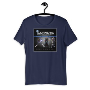 'Heroes' Corner 10 Creative Short-Sleeve Unisex Dark T-Shirt (Bella + Canvas 3001)