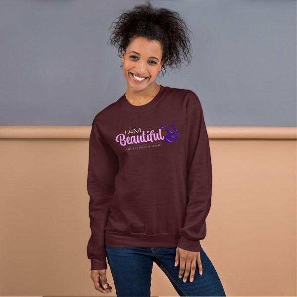 unisex crew neck sweatshirt maroon 5fe9ab48cf6b1