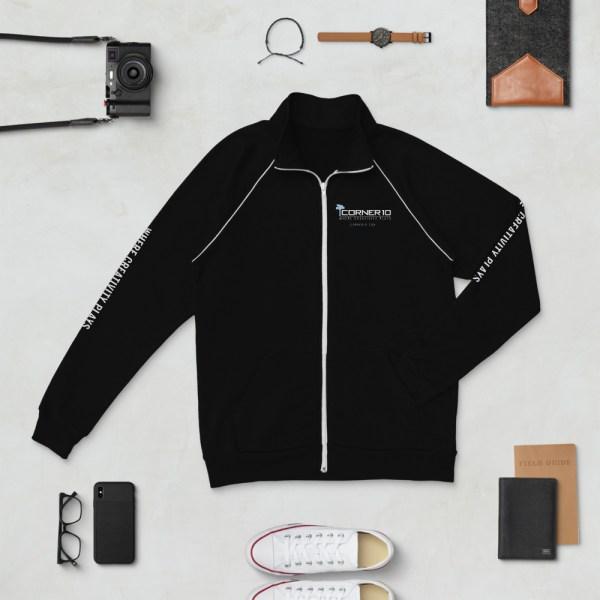 mens piped jacket black white 5ff51998eff8f