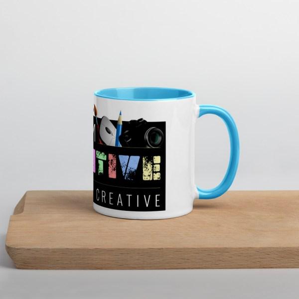 white ceramic mug with color inside blue 11oz 60010af231c63