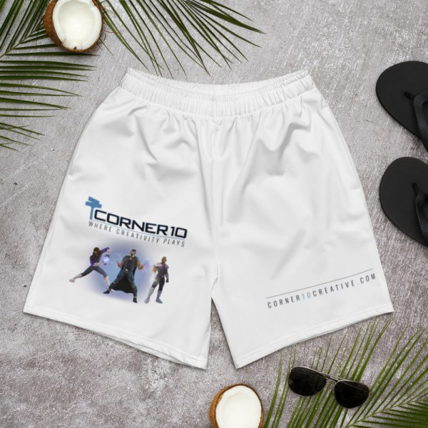 all over print mens athletic long shorts white front 60497466b531f