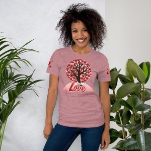 'Spread Love' Corner 10 Creative Short-Sleeve Unisex T-Shirt (Bella + Canvas 3001)