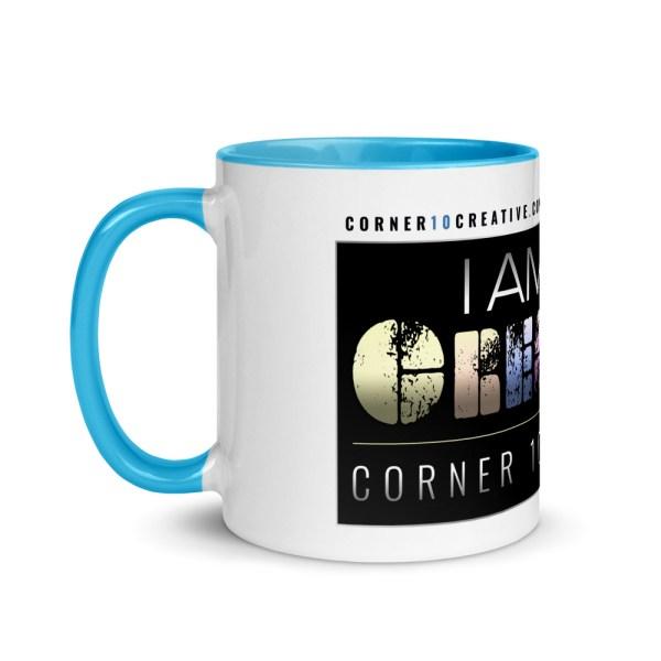 white ceramic mug with color inside blue 11oz left 6043e98e7fe81