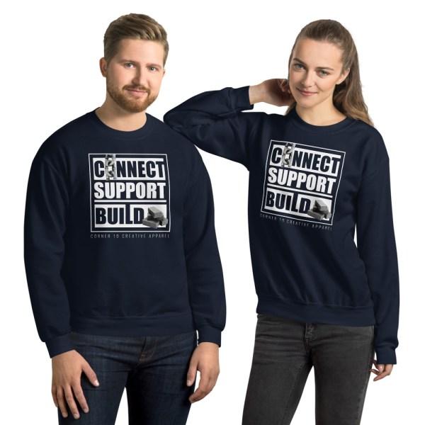 unisex crew neck sweatshirt navy front 612ecec3ad506