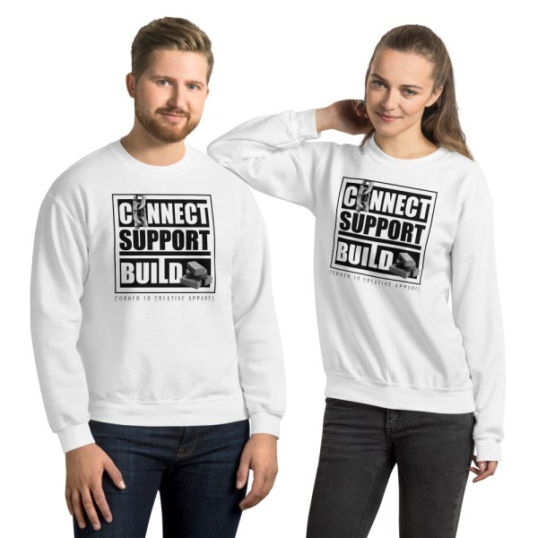 unisex crew neck sweatshirt white front 612ecdc5e111b