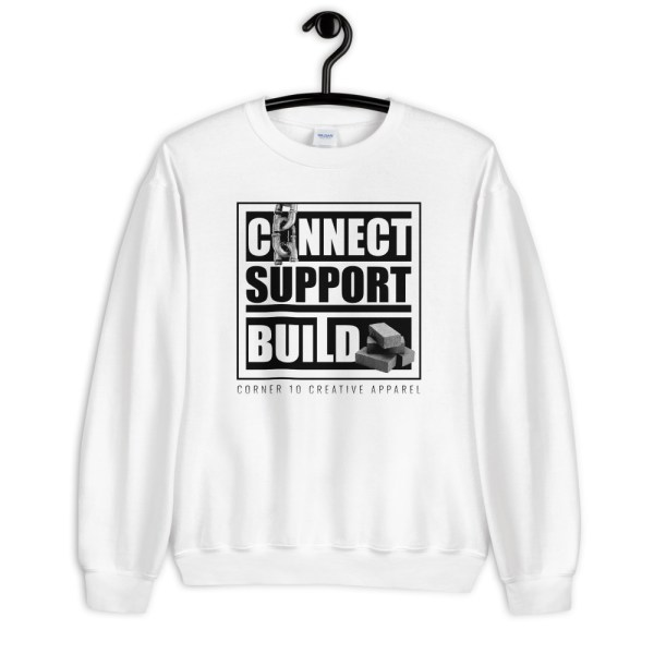 unisex crew neck sweatshirt white front 612ecdc5e1ef3