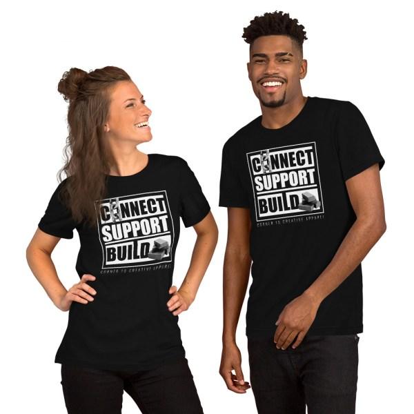 unisex staple t shirt black front 612ebb0dda79a