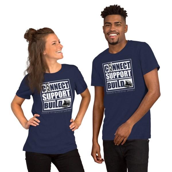 unisex staple t shirt navy front 612ebb0ddc4b0