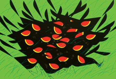 Redwing Blackbirds by Charley Harper