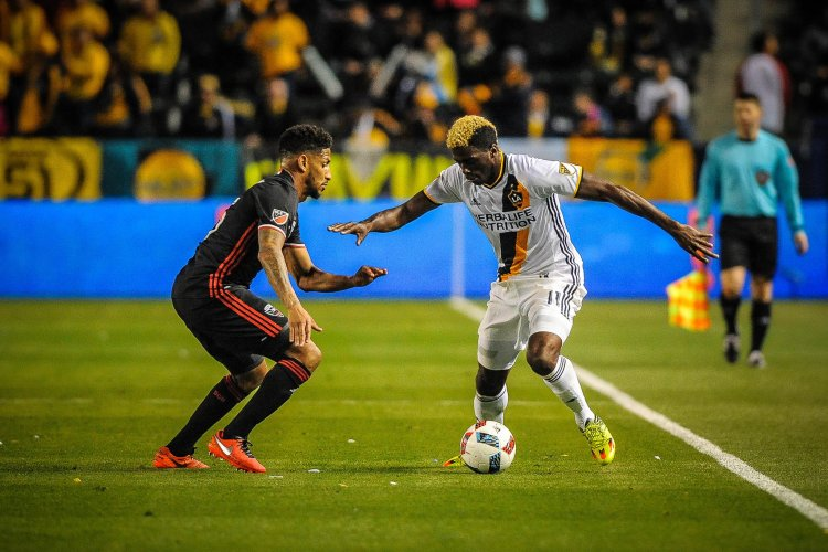 Gyasi Zardes during LA Galaxy vs DC United - Photo Credit Steve Carrillo